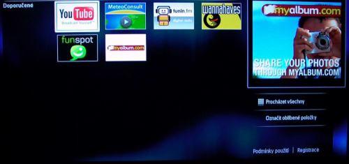 PHILIPS 32PFL8404H - internet - vstupní menu