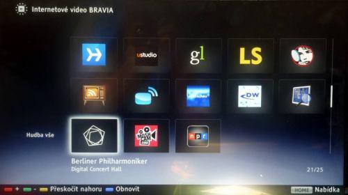 Sony KDL-24EX320 internet - widgety