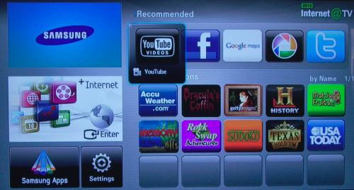 Samsung LE40C750 internet and TV