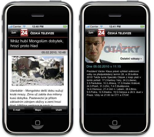 ČT 24 - iPhone