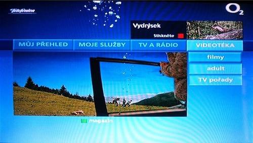 O2TV menu