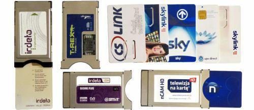 Karty - CS Link, Skylink, UPC, Sky a další