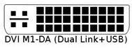 Konektor DVI M1-DA rozhraní DVI-I rozšířené o USB
