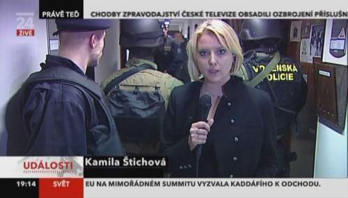ČT - zásah Vojenské policie, Události 11.3.2011