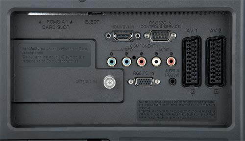 LG Flatron M228WD - konektory