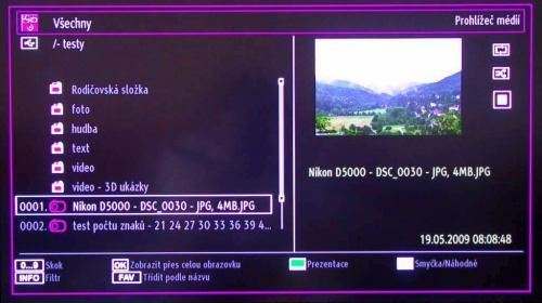 Gogen TVL32915LED - manažer souborů