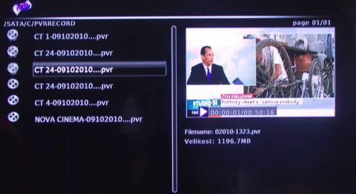 Gogen MB 381 Record 500 nahrávky DVB-T