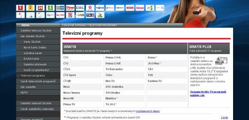 TV Markíza - základní nabídka Skylink