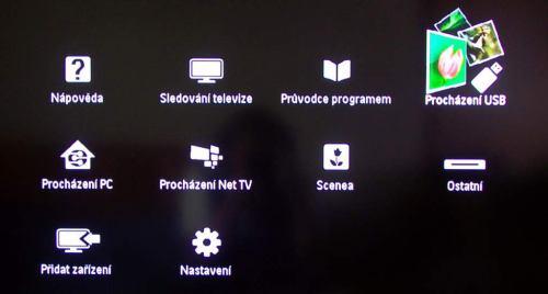 Philips 40PFL6606H menu hlavní