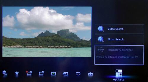 Sony KDL-32EX520 internetový prohlížeč