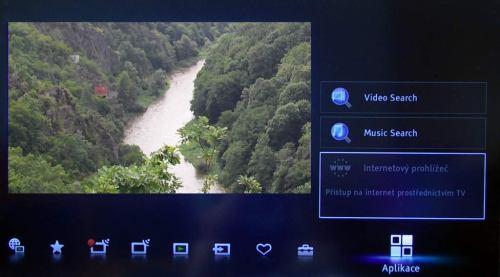 Sony KDL-46NX720 prohlížeč