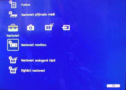 Sony ZX1 Sony jednotlivá nastavení