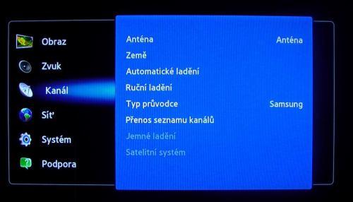 Samsung PDP8000_(60,EU) menu kanál