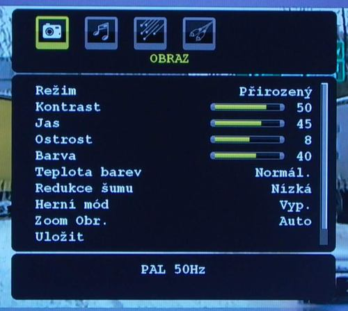 Gogen TVL32895 menu obraz