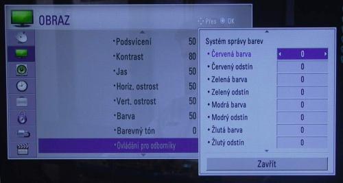 LG M80D menu obraz pokročilý