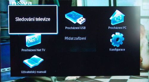 PHILIPS 32PFL8404H - hlavní ikonové menu
