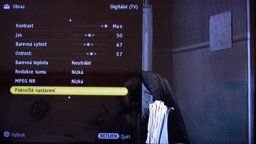 Sony KDL-32NX500 menu obraz