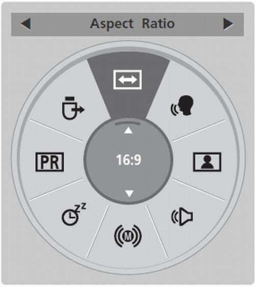 LG 42LD550 - menu rychlé
