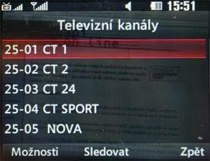 LG HB620T - seznam TV stanic