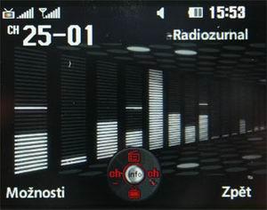 LG HB620T - příjem rozhlasu