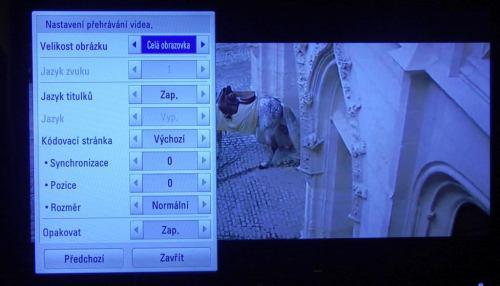 LG 42LW650S multimedia titulky