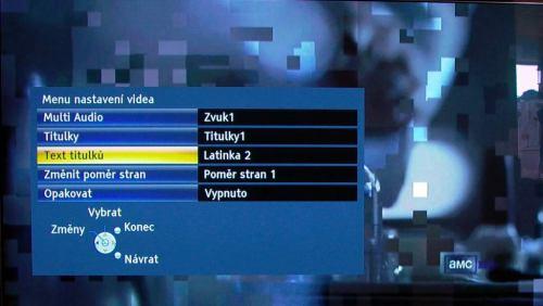 Panasonic P42GT30 multimedia video nastavení