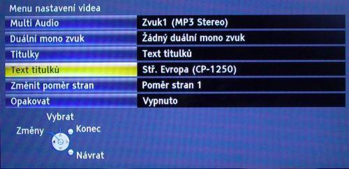 Panasonic Viera TX-L42ET5 multimedia titulky
