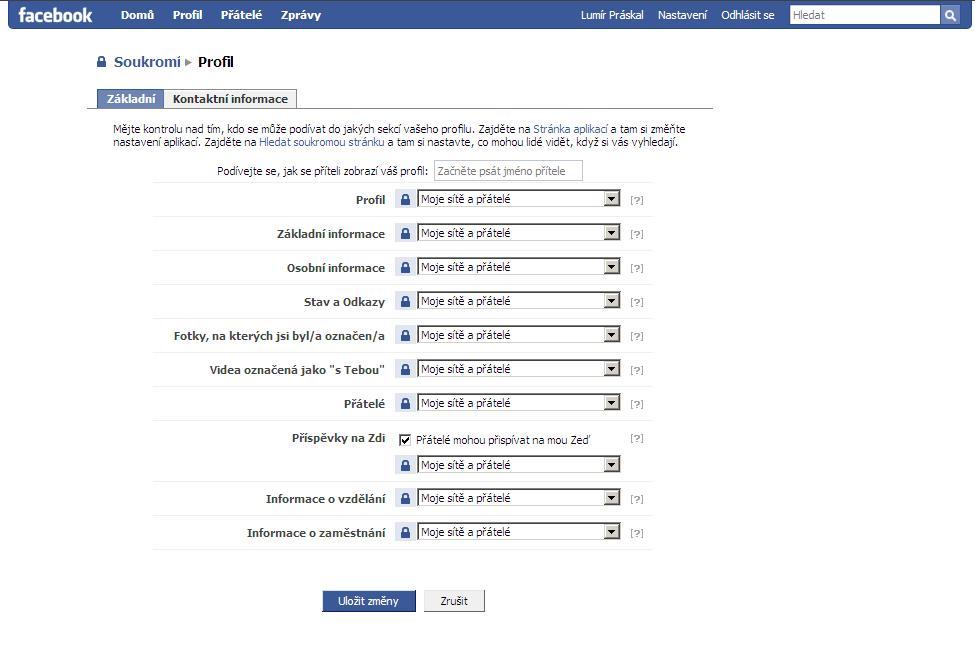 Vytvoření uživatelského jména pro seznamovací profil
