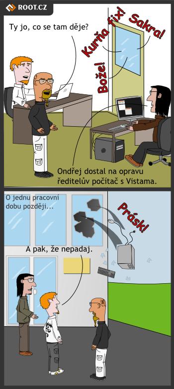 Nepadavý operační systém - komiks