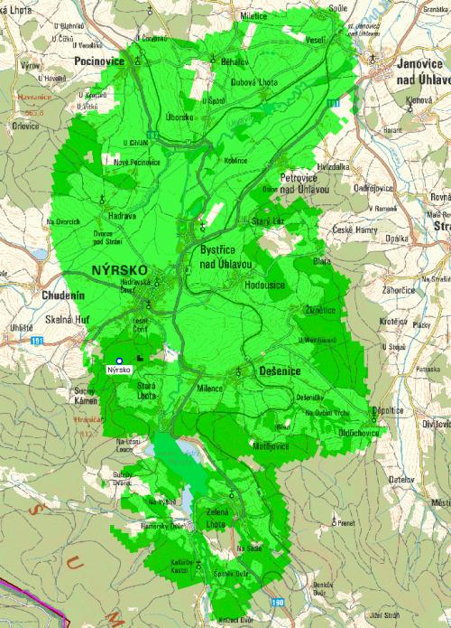 Mux 1 - pokrytí Nýrsko Suchý vrch