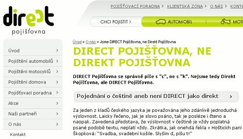 Direct není Direkt