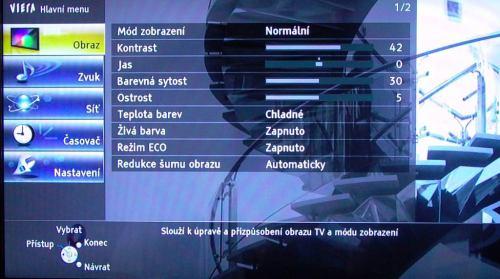 Panasonic Viera TX-L42ET5 obraz