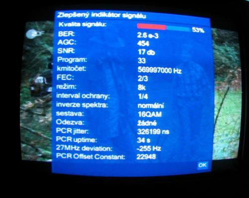 Technisat - zlepšený indikátor signálu