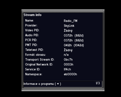 AB IP Box 250S stream data