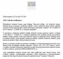 ATO - TZ o tendru na peoplemetry, 19.9.2011 e-mail