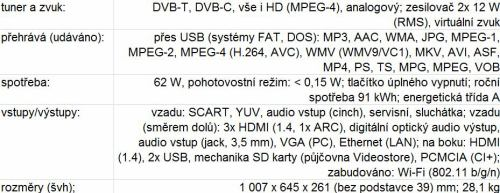 Philips 42PDL7906H parametry