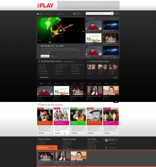 Prima Play - náhled webu