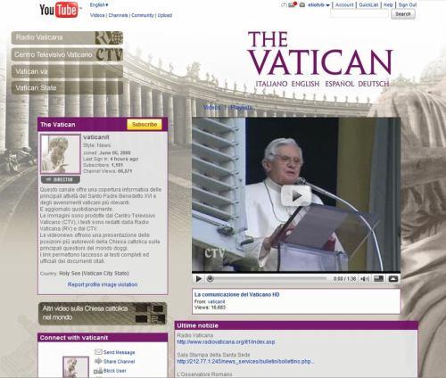 Vatikán, papež a Youtube