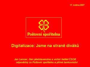 Prezentace DM 2007 Lamser