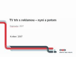 Prezentace DM 2007 Nováček