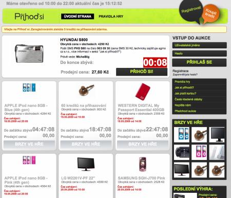 Přihodsi.cz - homepage