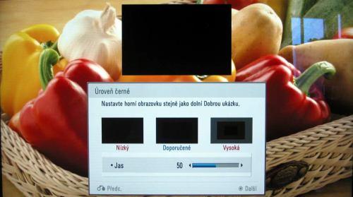 LG LD950 - průvodce nastavením obrazu