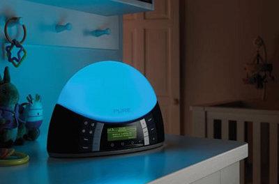 Digitální rádio Pure radiobudík modrý