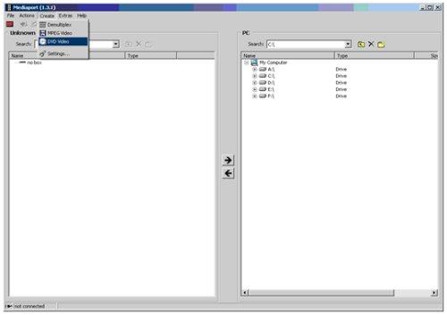 TechniSat HD8-S - výběr položky z hlavního menu