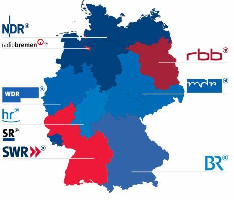 Německo - regionální televize