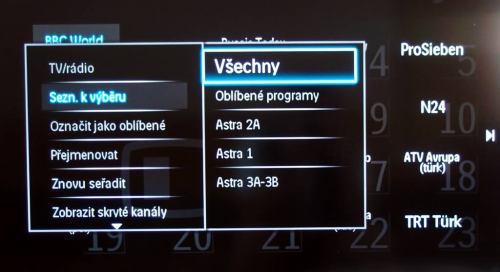 Philips 9705 satelit - třídění