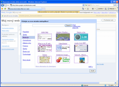 Google Sites - miniaplikace
