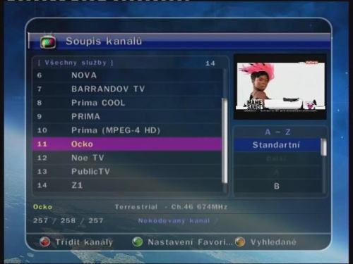 Optibox DVB-T FTA PVR Ready sledování