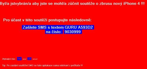 SMS vydírání