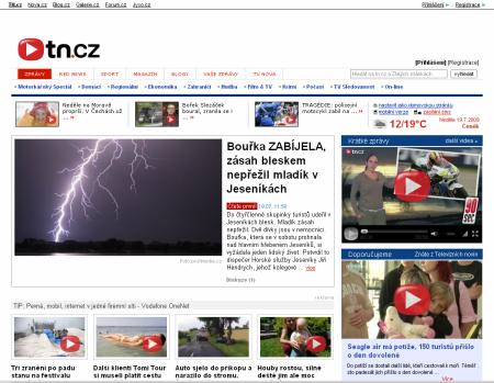 screenshot tn.cz